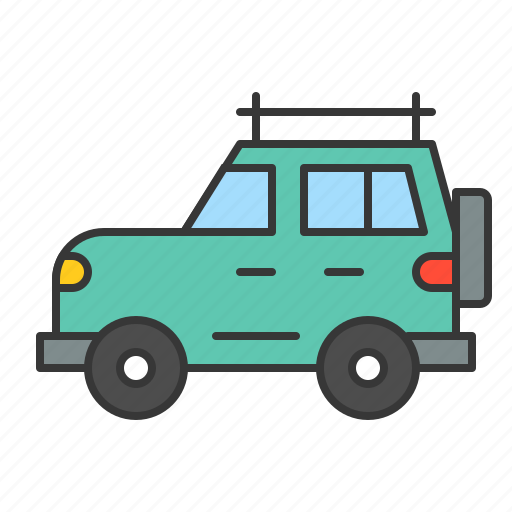 camping car, car, jeep, traffic, transport, vehicle icon