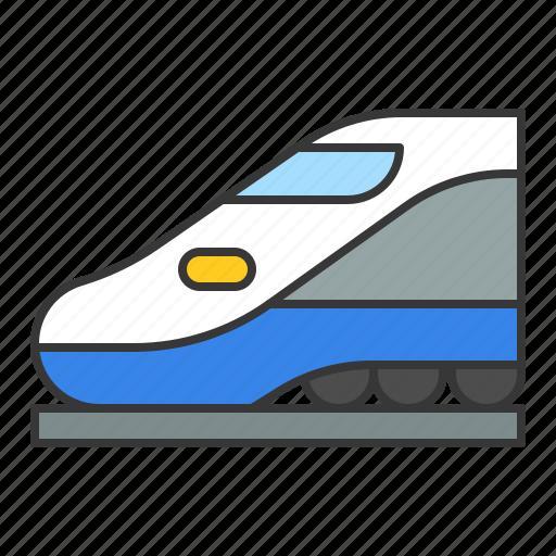 bullet train, high speed train, traffic, train, transport, vehicle icon