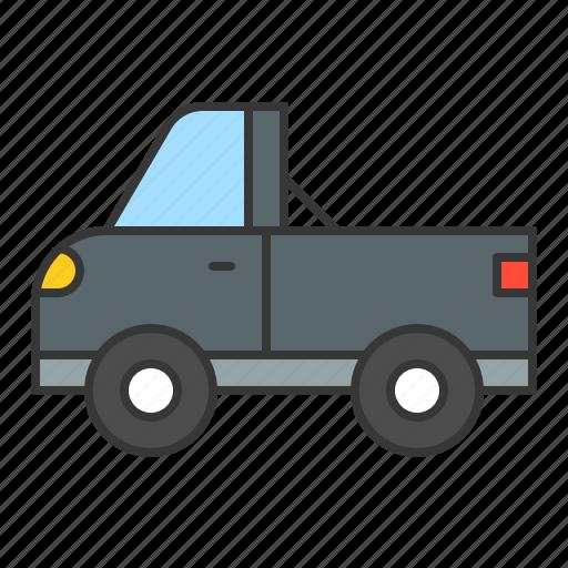 pickup car, pickup truck, traffic, transport, vehicle icon