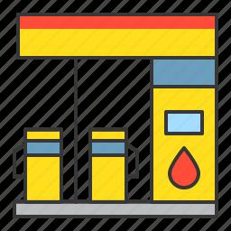 gas station, petrol station, traffic, transport icon