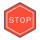 road signs, sign, stop sign, traffic, transport icon