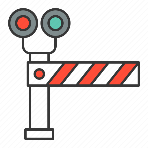 rail barier, railroad crossing, traffic, transport icon