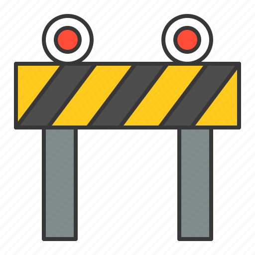 road barrier, traffic, transport icon
