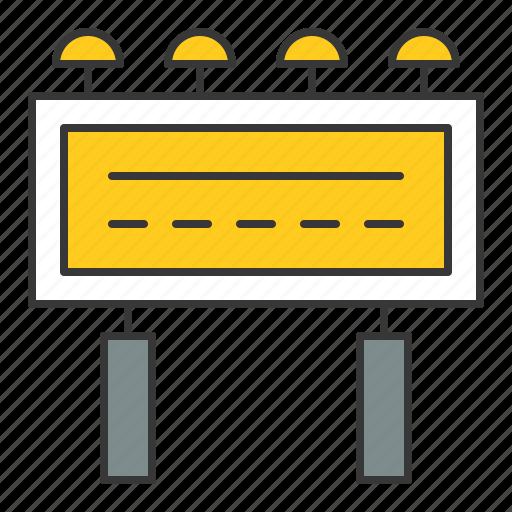 advertising, advetise, billboard, traffic, transport icon