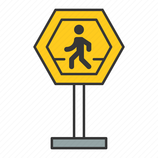 pedestrian crossing, pedestrian crossing sign, road signs, sign, traffic, transport icon