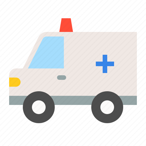 ambulance, car, traffic, transportation, vehicle icon