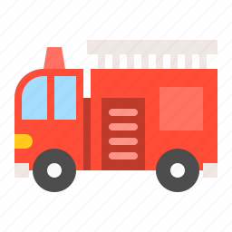 fire truck, traffic, transportation, vehicle icon