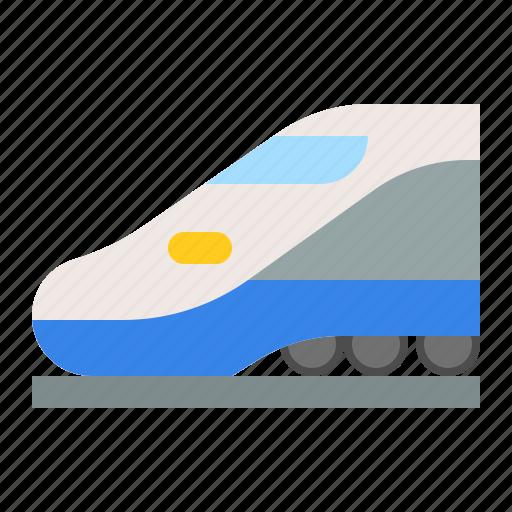 bullet train, high speed train, traffic, train, transportation, vehicle icon