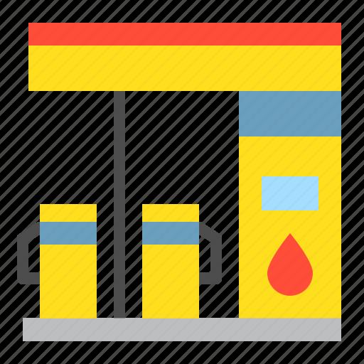 gas, gas station, petrol station, transportation icon
