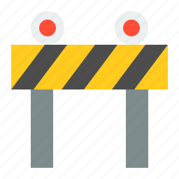 road barrier, road signs, sign, traffic, transportation icon