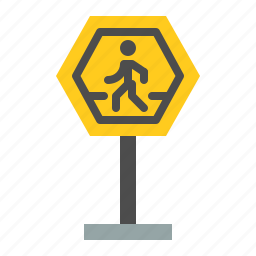 pedestrian crossing, pedestrian crossing sign, road signs, sign, transportation icon