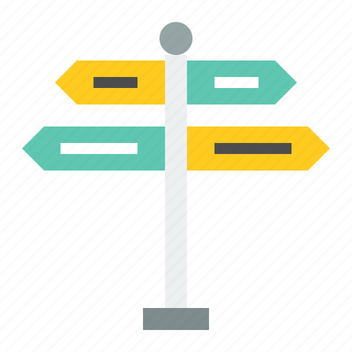 guidepost, road signs, sign, transportation icon