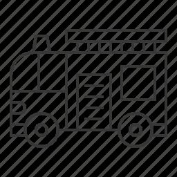 fire truck, traffic, transportation, vehicle icon