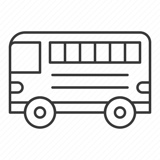 bus, car, school bus, traffic, transportation, vehicle icon