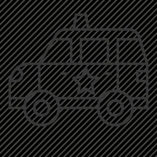 patrol car, police car, traffic, transportation, vehicle icon