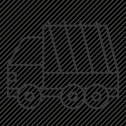 car, garbage truck, traffic, transportation, vehicle icon