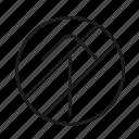 forbidden, prohibited, no, move, forward, sign