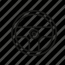 steering, wheel, car, vehicle