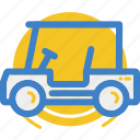 cart, golf, golfcart, land, motor, vehicle icon