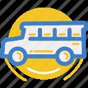 bus, land, motor, vehicle icon