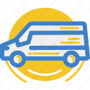 car, land, motor, van, vehicle icon