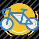 bicycle, cycle, land, vehicle icon