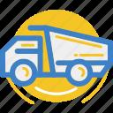 garbage, land, motor, truck, vehicle icon