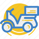delivery, land, motor, motorcycle, vehicle icon