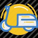 land, motor, motorcycle, vehicle, vespa icon