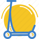 land, scooter, vehicle icon