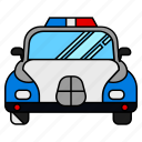 police, car, vehicle