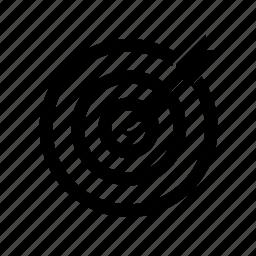 bullseye, goal, target, victory icon