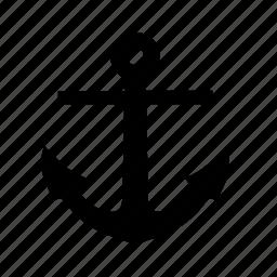 anchor, maritime, sailing, shipping icon