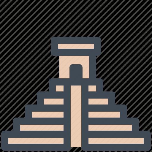 chichen, itza, landmark, maya, monument icon