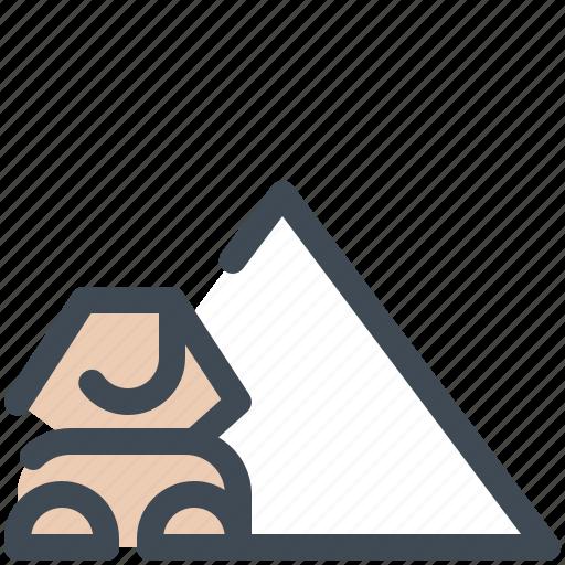 Egypt, giza, landmark, monument, pyramids, sphinx, tourism icon - Download on Iconfinder