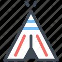 america, indians, landmark, tent, wigwam icon