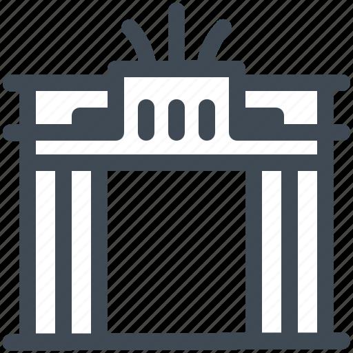 Berlin, brandenburg, gate, germany, landmark icon - Download on Iconfinder