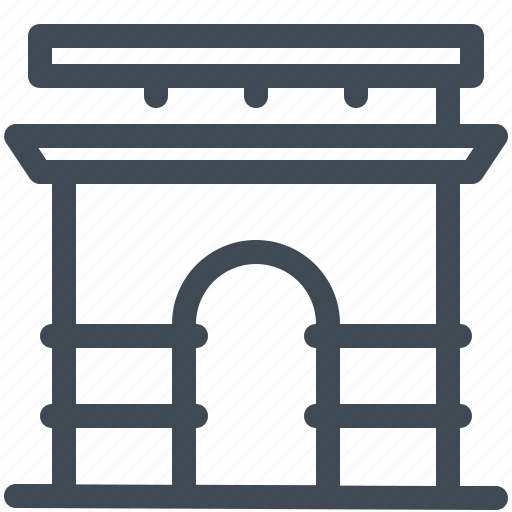 Landmark, monument, world, arc de triomphe, france, paris icon - Download on Iconfinder