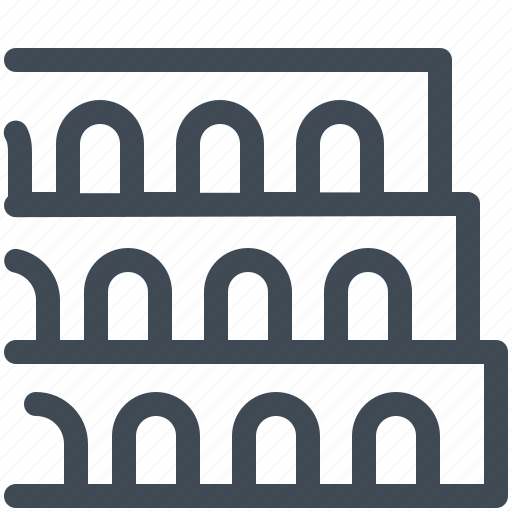 Building, colosseum, italy, landmark, monument, roma icon - Download on Iconfinder