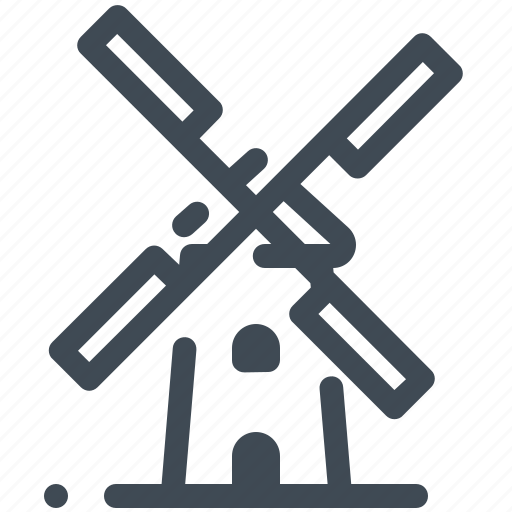 architecture, building, construction, holland, windmill icon