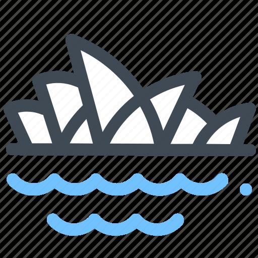 Australia, house, landmark, monument, opera, sydney icon - Download on Iconfinder