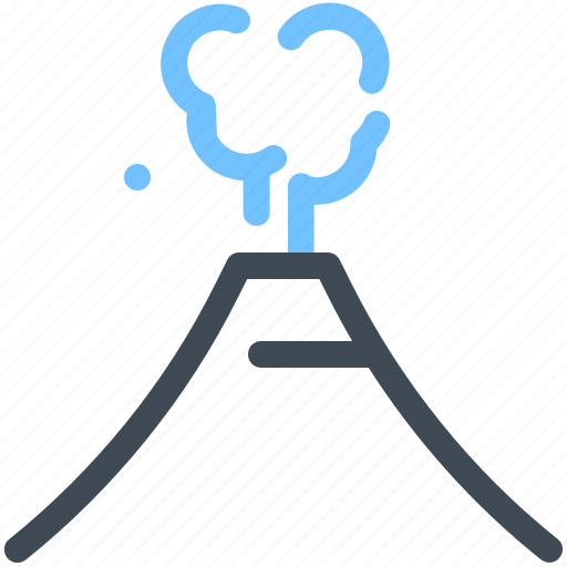 landmark, mountain, tourism, volcano icon