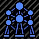 atomium, brussels, building, landmark, monument icon