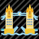 bridge, landmark, london, tower, travel