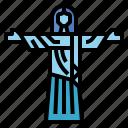 brazil, christ, landmark, rio, statue icon