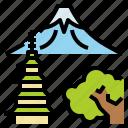 fuji, japan, landmark, mountain, travel