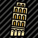 italy, landmark, leaning, pisa, travel