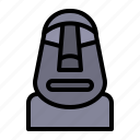 landmark, moai, monument, building, architecture