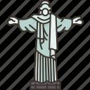 brazil, rio, janeiro, christ, monument