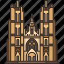 cathedral, michael, catholic, belgium, architecture